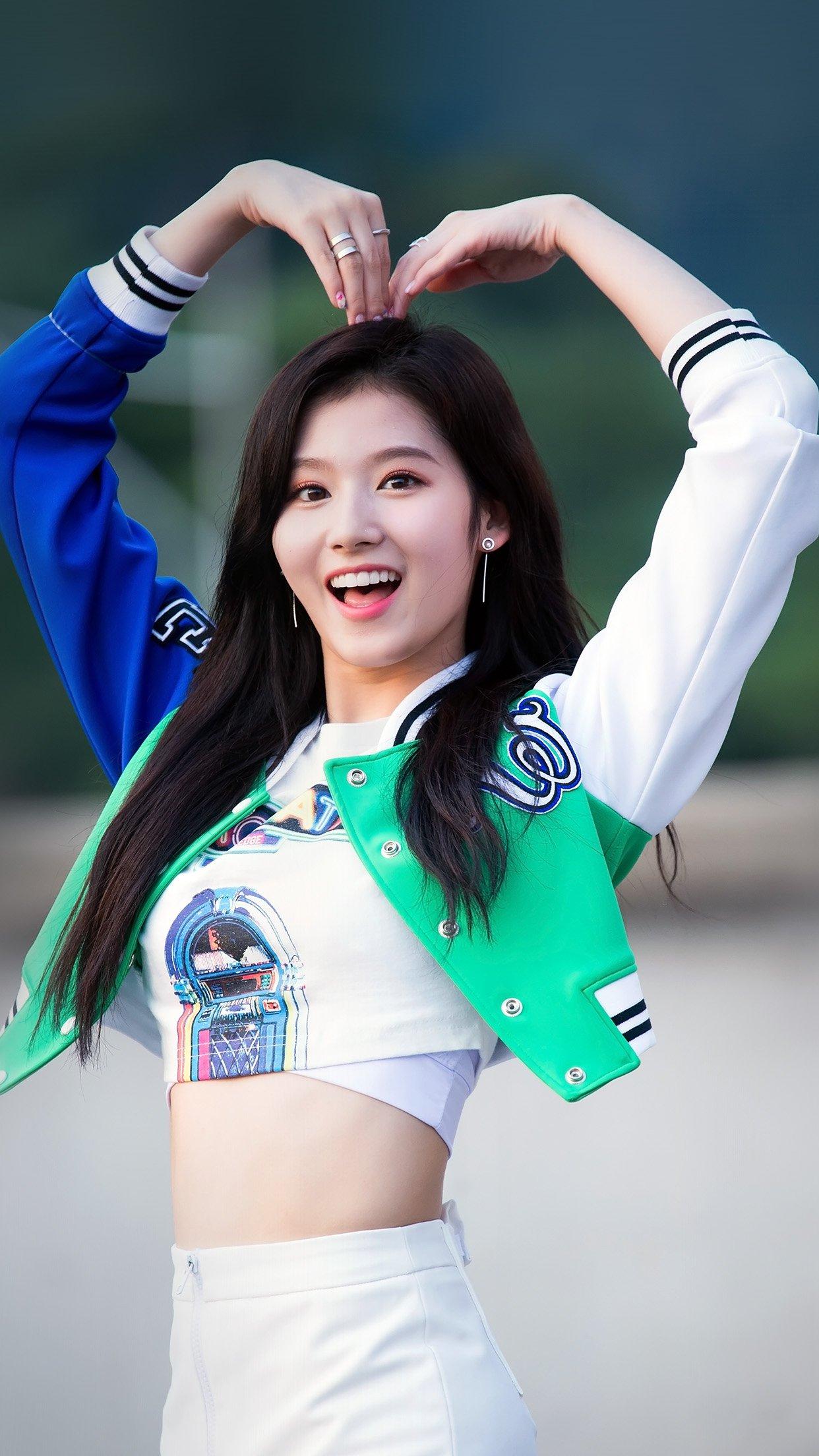 kpop sana heart love cute girl celebrity - wallpapers for iphone