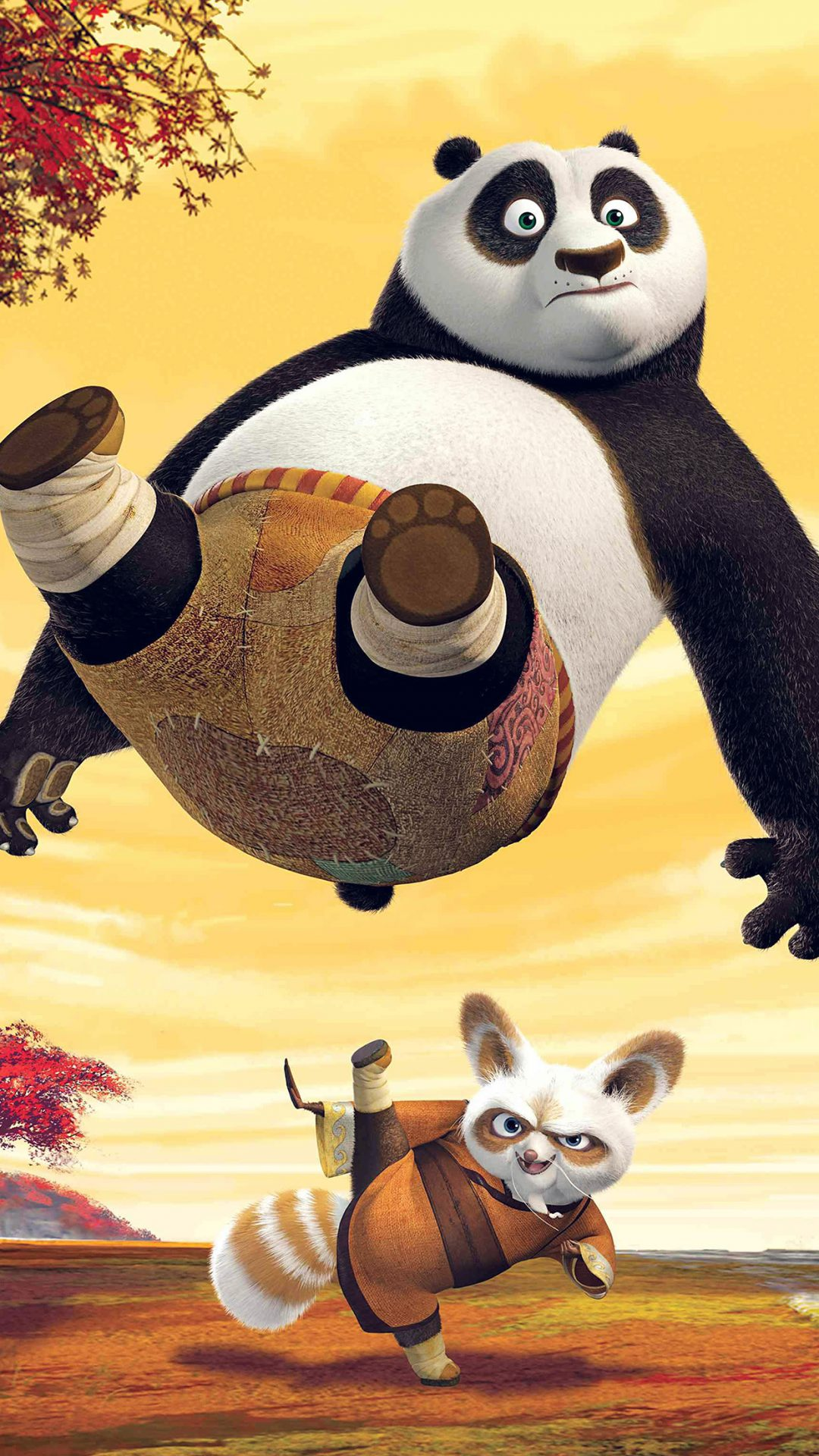 Kungfu Panda Dreamworks Art Kick Cute Anime