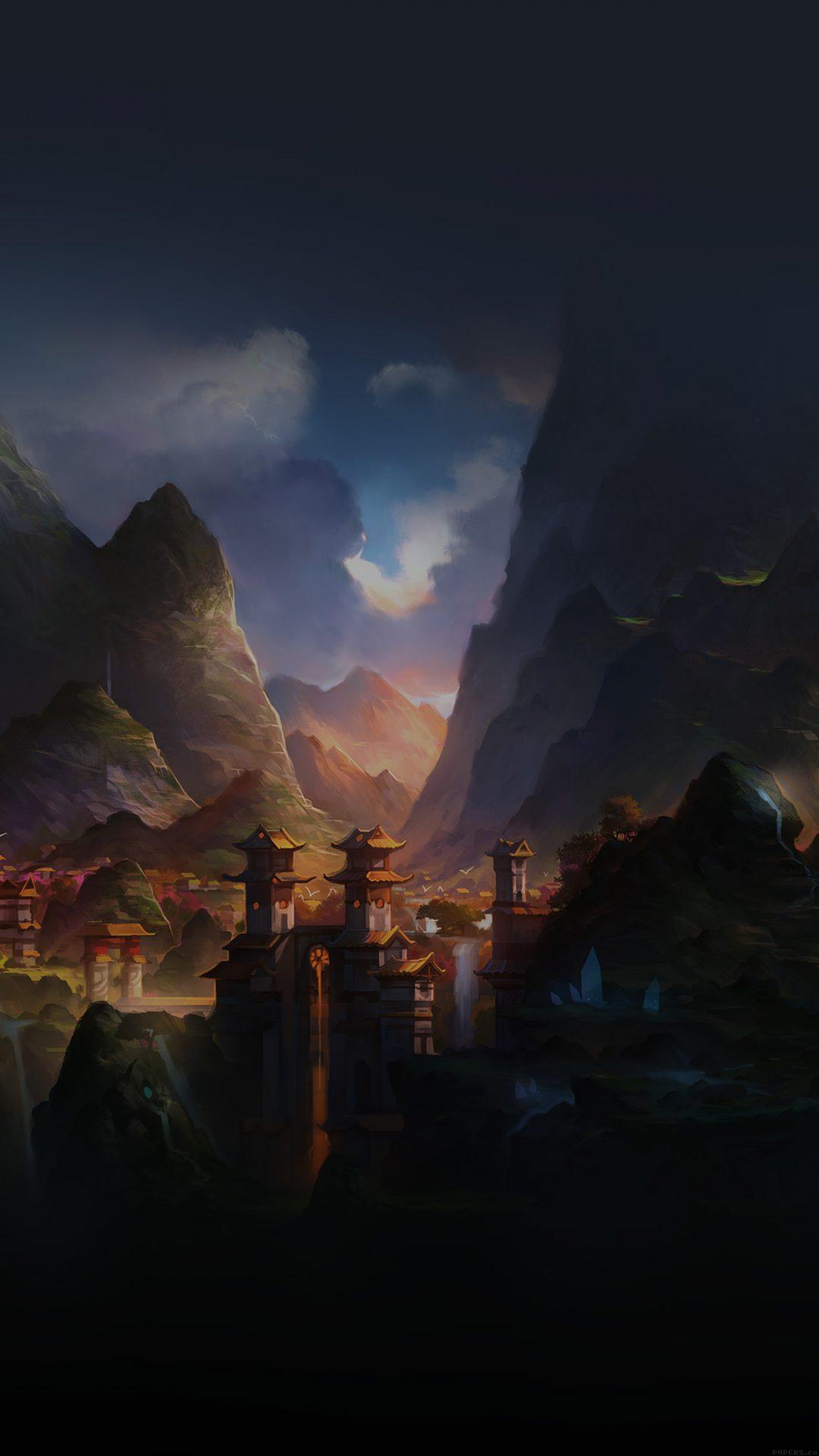 Mountain Art Illust China Anime Peaceful