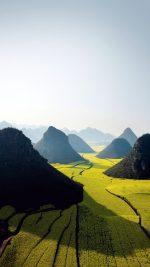Nature Mountain High Green Field