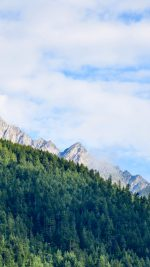 Nature Mountain Sky Blue Green Sunny Summer