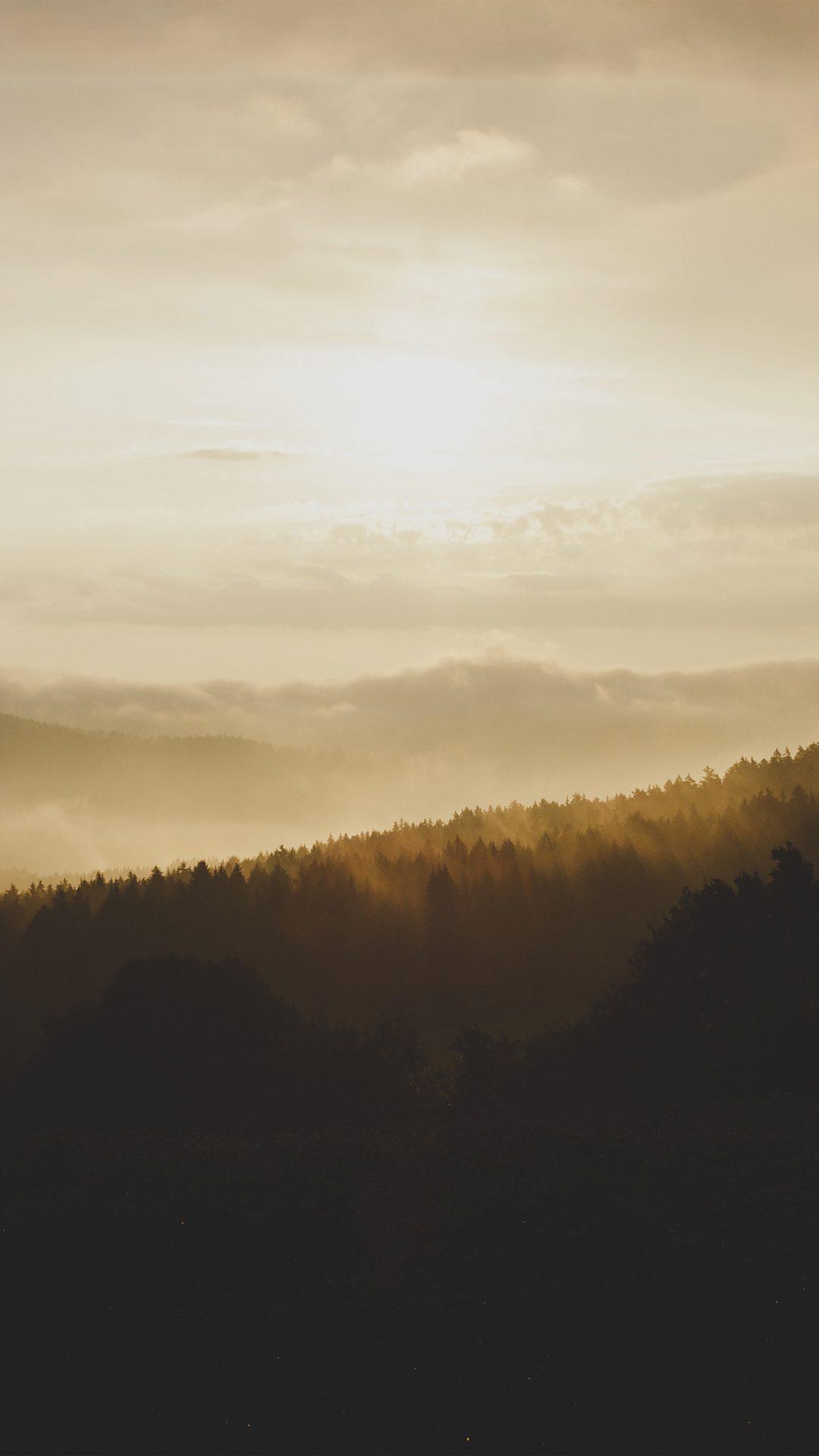 Nature Mountain Sunset Yellow