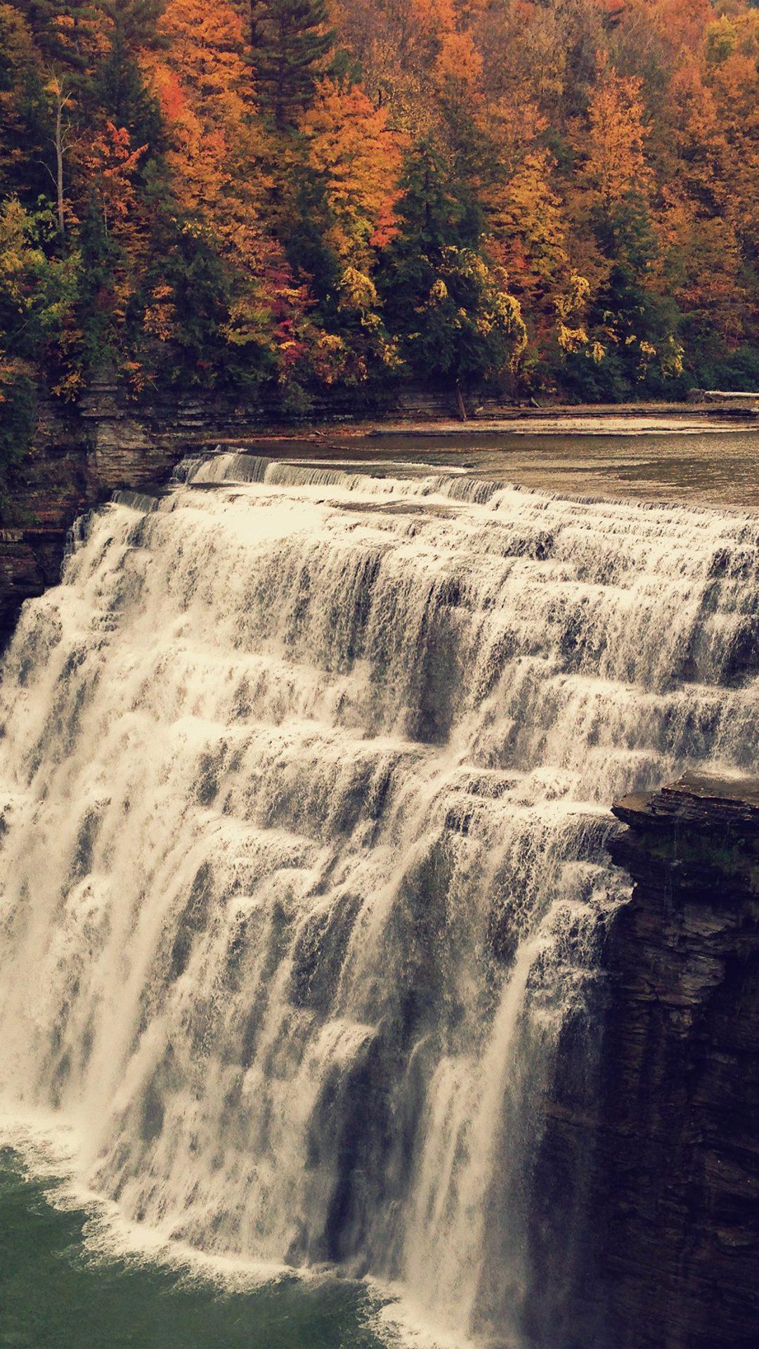 Nature Water Fall Mountain