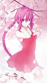 Pink Girl Anime Art Illustration Flower Blossom