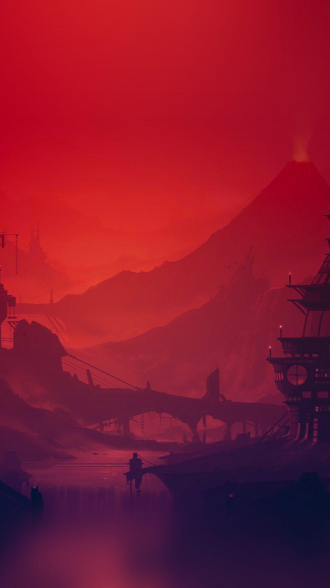 Red River Illustration Art Anime