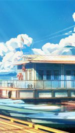 Sea Illustration Art Anime Painting Arseniy Chebynkin