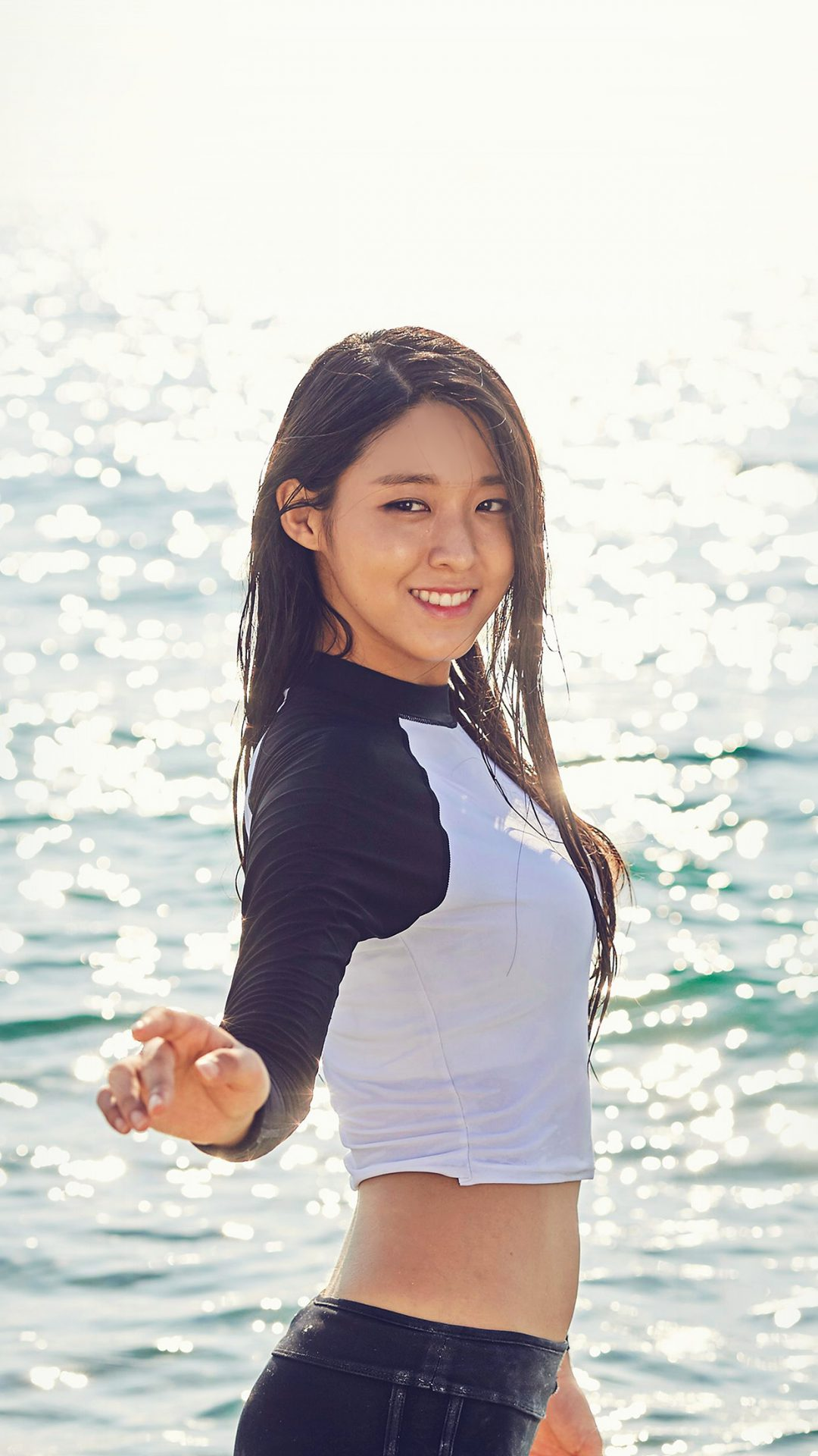 Seolhyun Kpop Aoa Girl Sea Cute