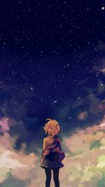 Starry Space Illust Anime Girl