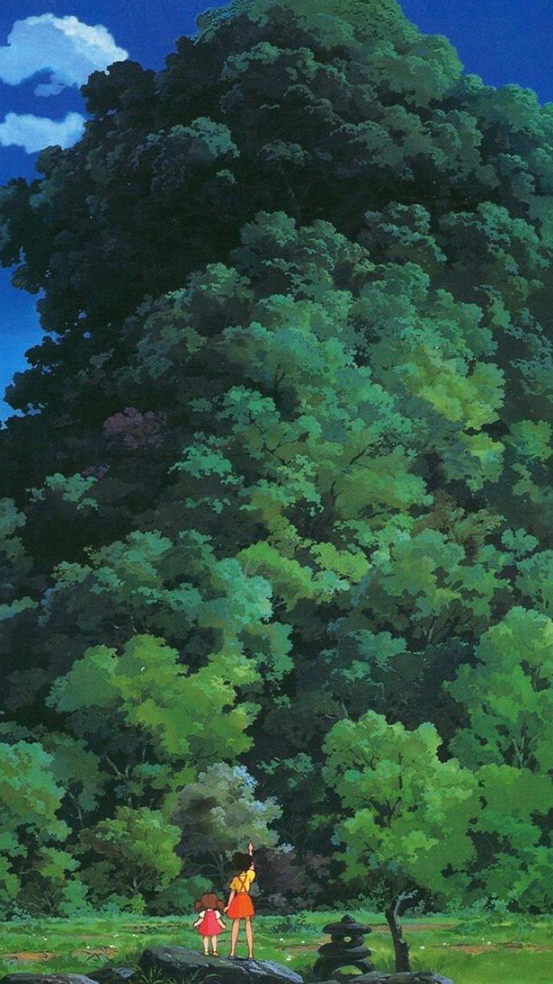 Studio Ghibli Tree Green Art Illustration Love Anime