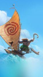 Surf Moana Disney Film Anime Summer Sea Illustration Art