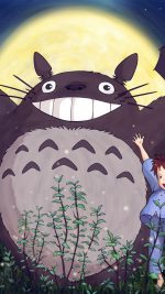 Totoro Forest Anime Cute Illustration Art Blue