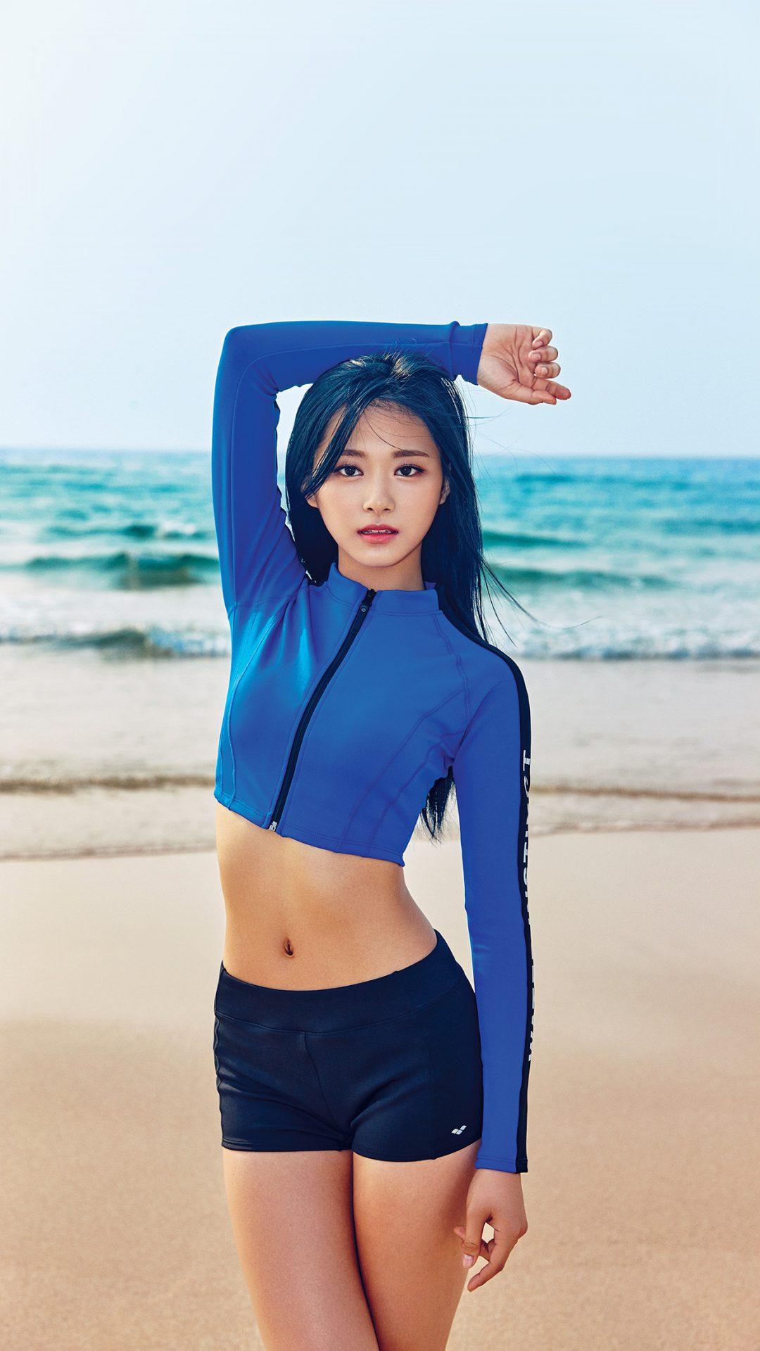Tzuyu Kpop Girl Sea Summer Cool
