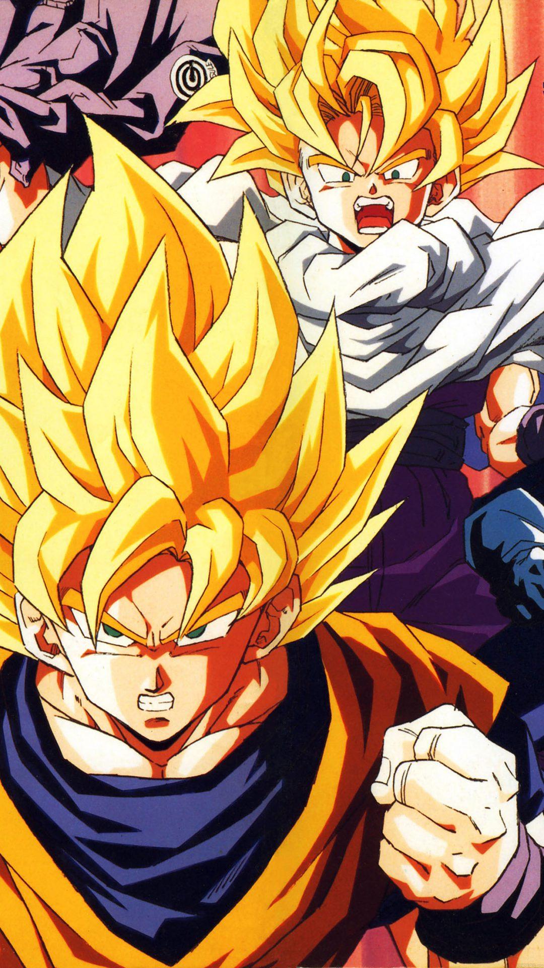 Wallpaper Dragonball Z Goku Fire Anime