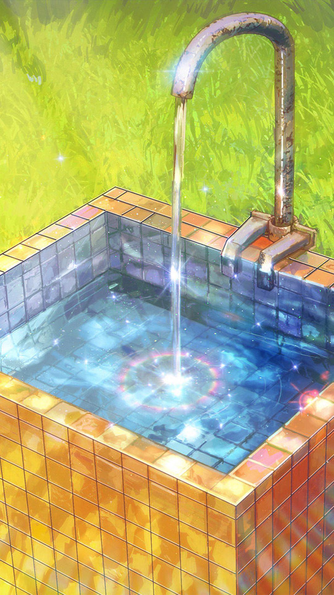 Water Anime Paint Color Illustration Art Arseniy Chebynkin