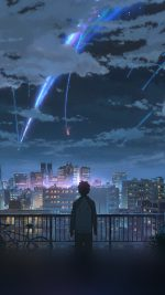 Yourname Night Anime Sky Illustration Art