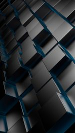 3D Metal Cubes Blue