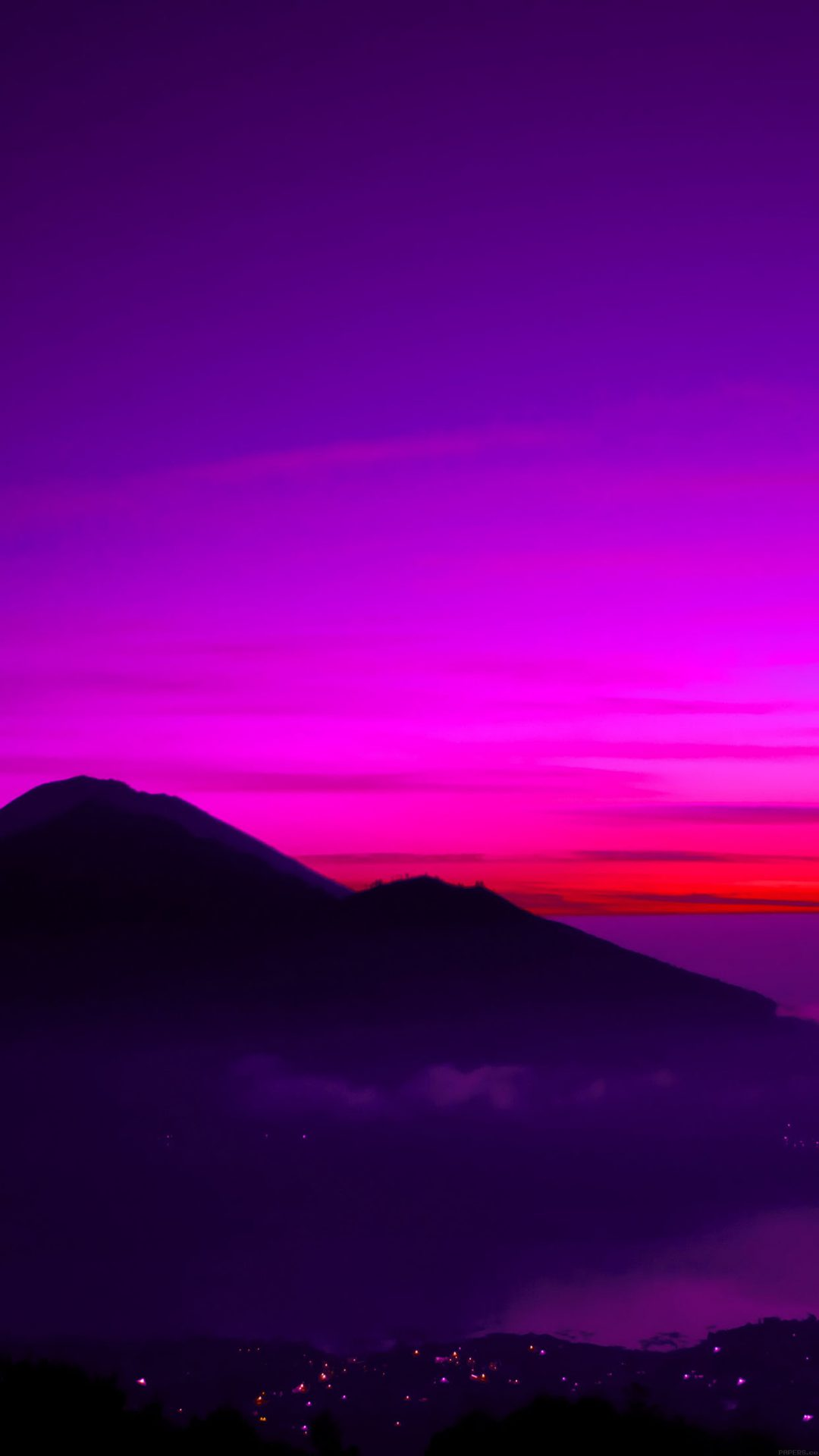 A Balinese Dream Mountain Sky Red Nature