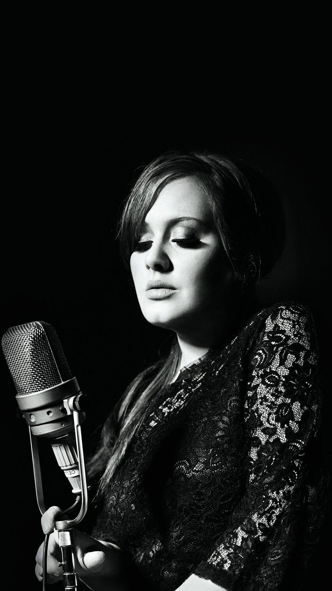 Adele Music Singer Dark Bw Celebrity