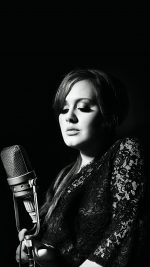 Adele Music Singer Dark Bw Celebrity