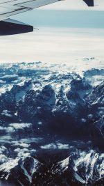 Airplane Sky Mountain Snow Ice Nature