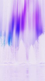 Aurora Night Sky White Purple Nature Art