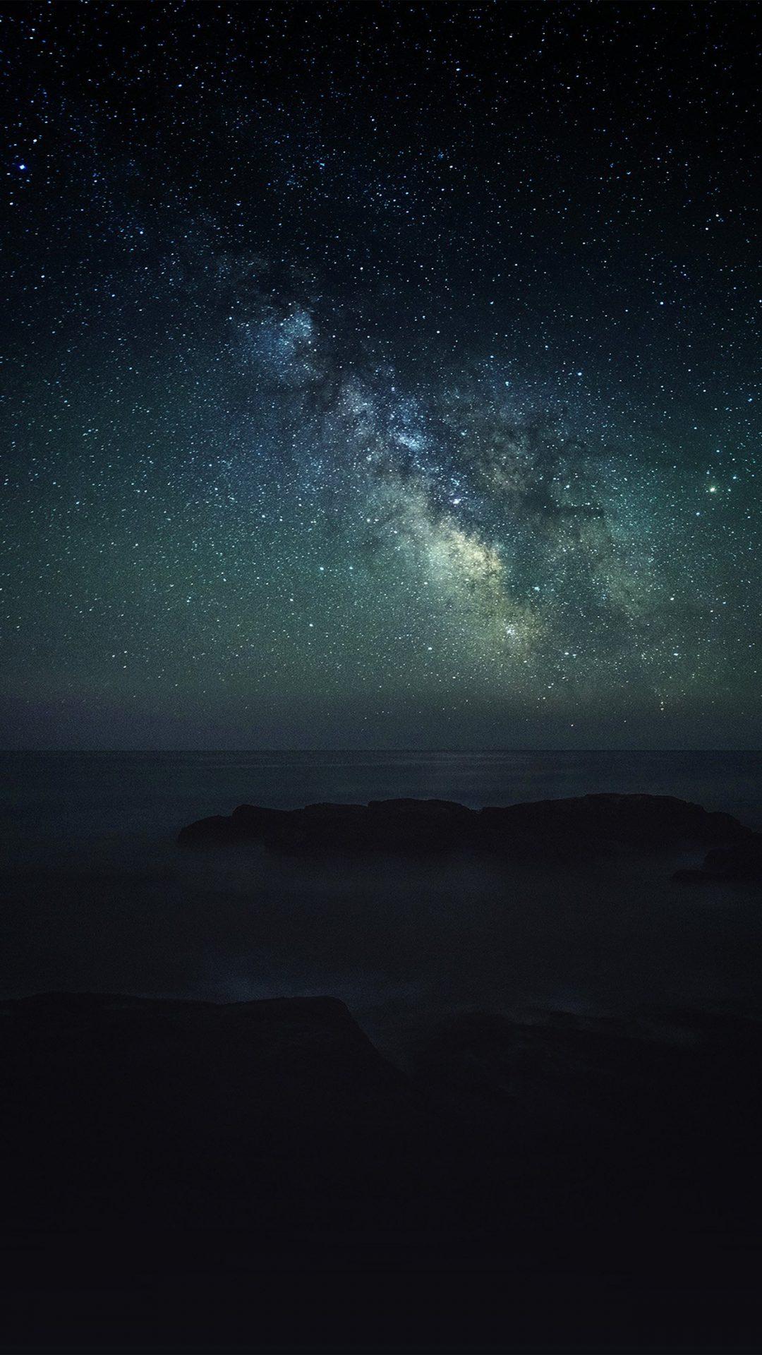 Aurora Star Dark Night Sky Nature Space