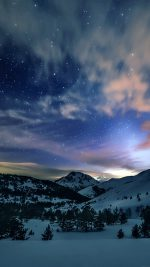 Aurora Star Sky Snow Mountain Winter Nature