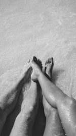 Beach Couple Sea Sand Nature Art Bw Dark