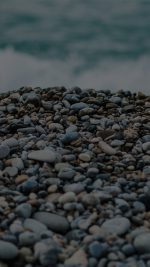 Beach Stones Sea Nature Dark