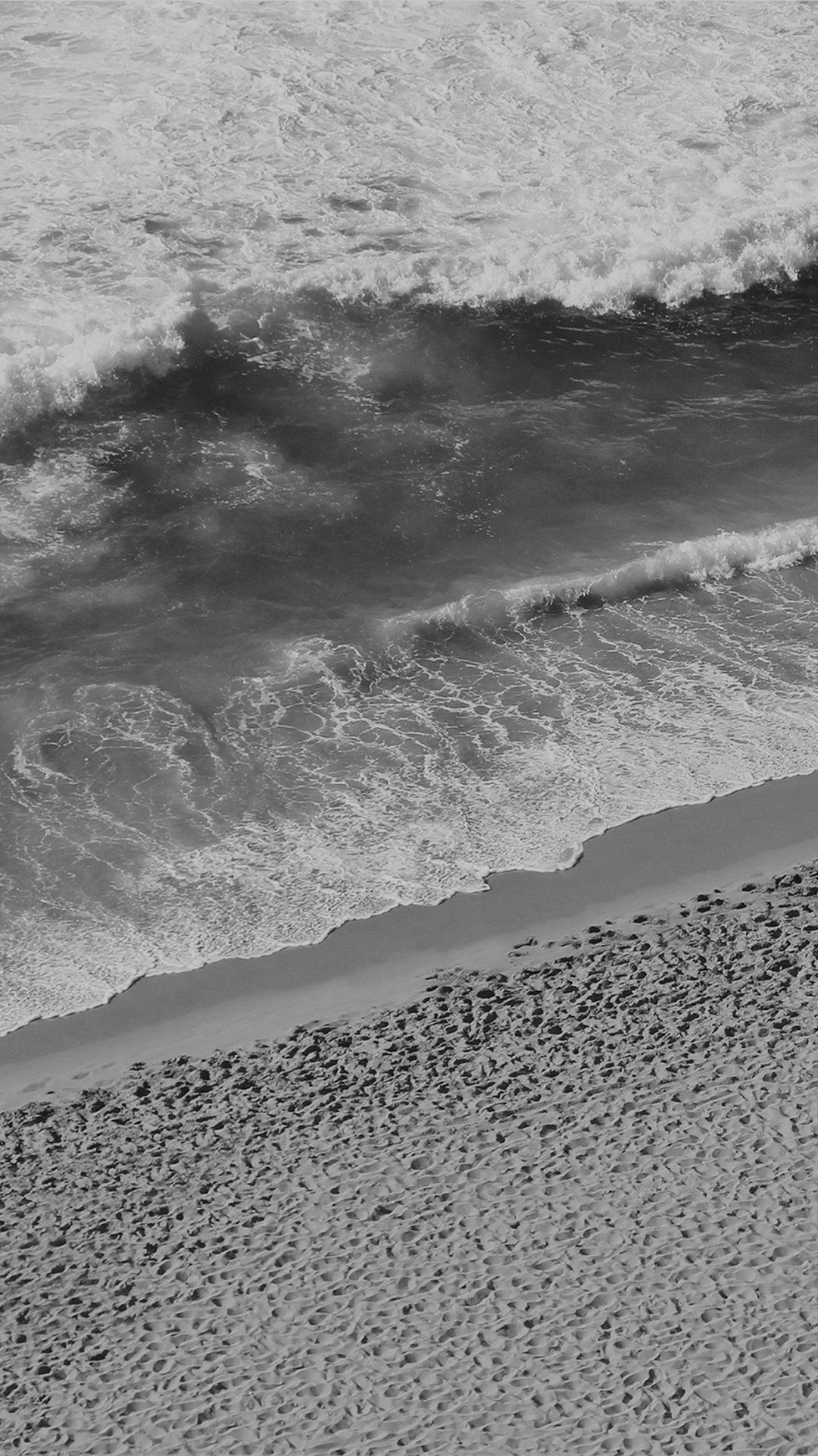Beach Wave Coast Nature Sea Water Summer Bw Dark