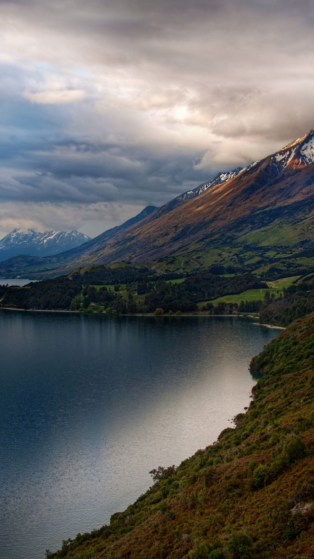 Beautiful Road In World Mountain Lake Nature