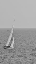 Boat Dark Bw Sea Ocean Nature
