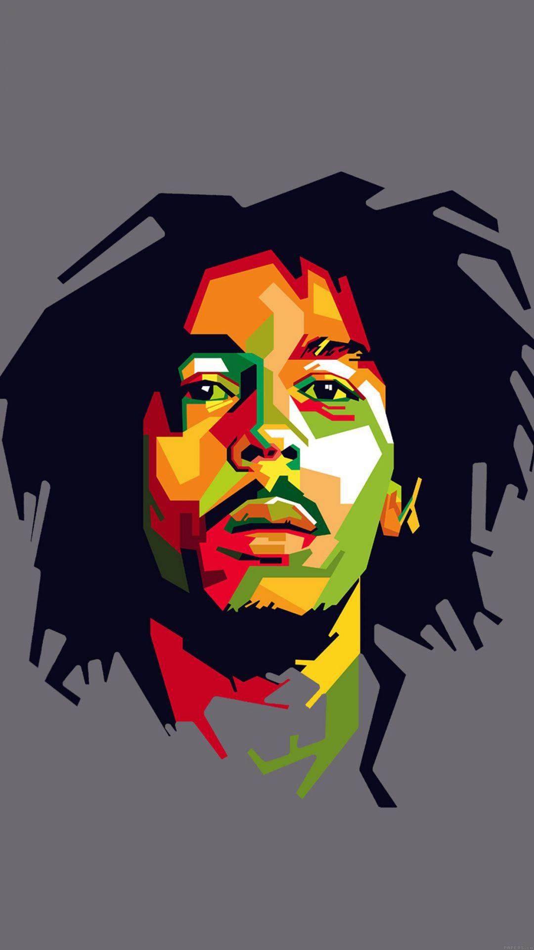 Bob Marley Art Illust Music Reggae Celebrity