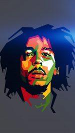 Bob Marley Blue Art Illust Music Reggae Celebrity
