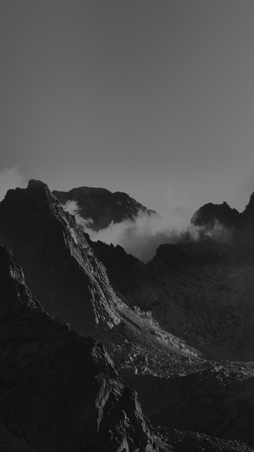 Breath Taking Mountains Bw Sky High Nature