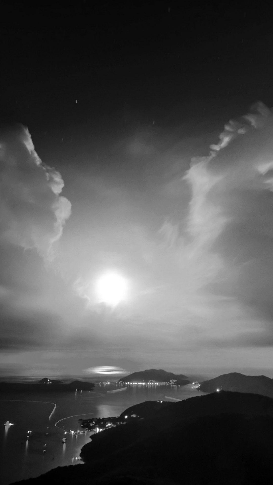 British Night Sunset Lake Sea Mountain Nature Bw Dark
