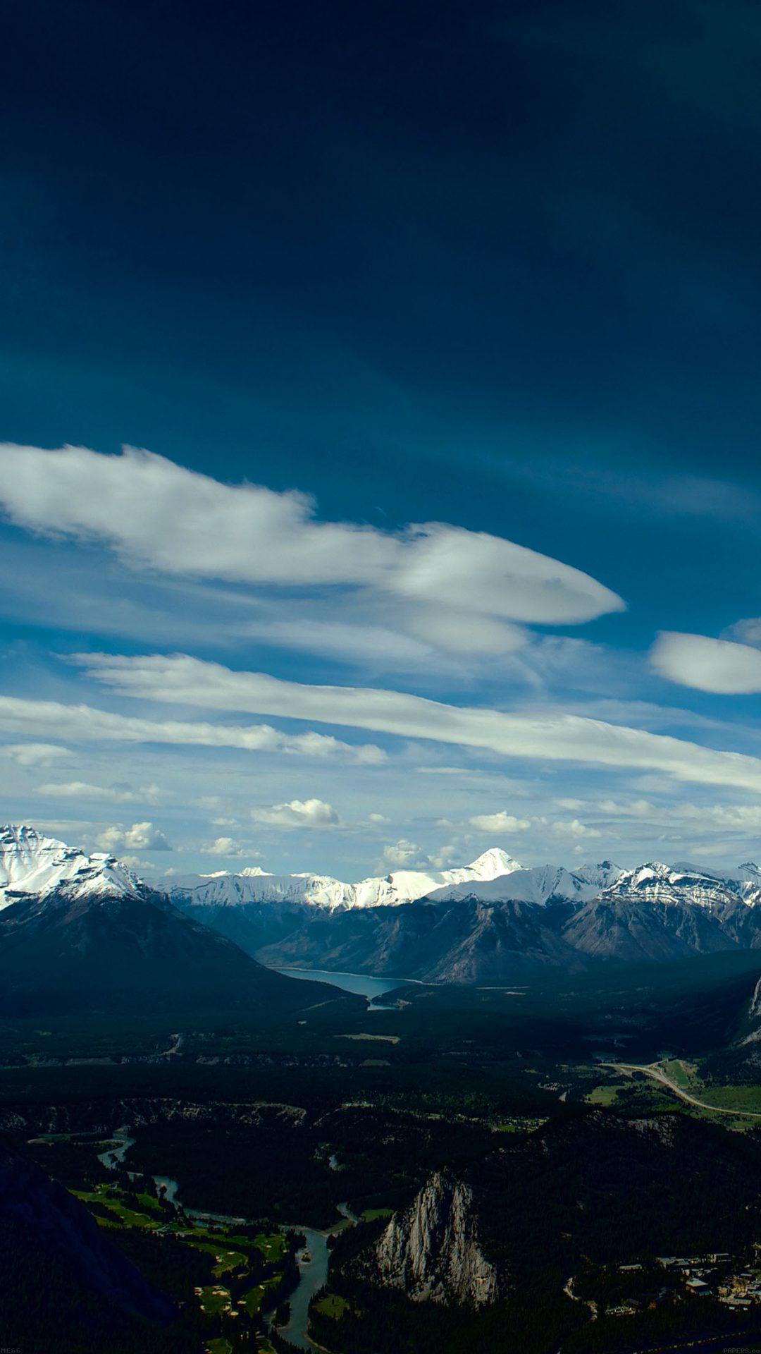 Canada Mountain Sky Snow High Nature