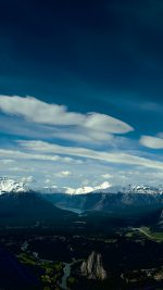 Canada Mountain Sky Snow High Nature