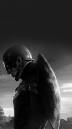 Captain America Sad Hero Film Marvel Dark Bw