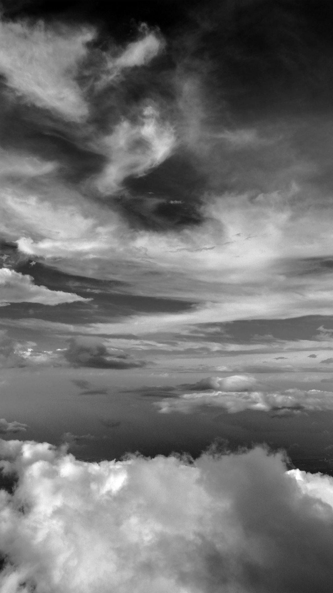 Cloud Sky Nature Dark Bw
