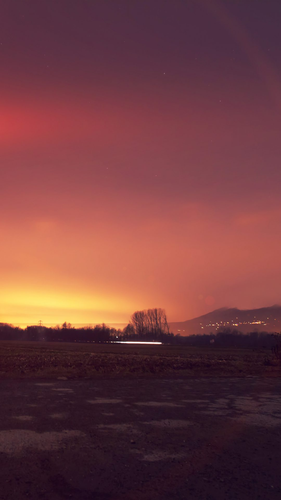 Dawn Nature Sky Sunset Mountain Red Dark Flre Flare