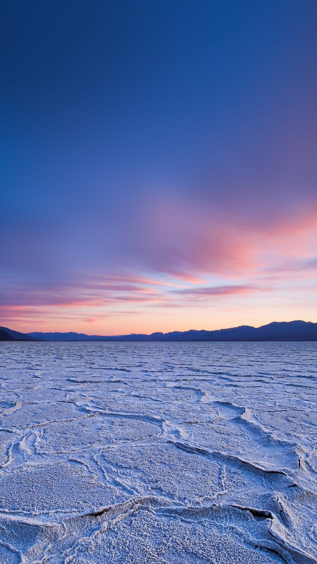 Dead Sea Snow Sunset Mountain Nature