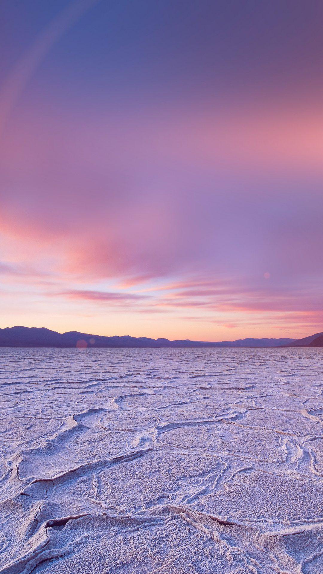Dead Sea Snow Sunset Mountain Nature Flare