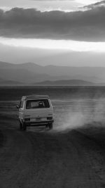 Desert Car Dark Bw Drive Nature Love
