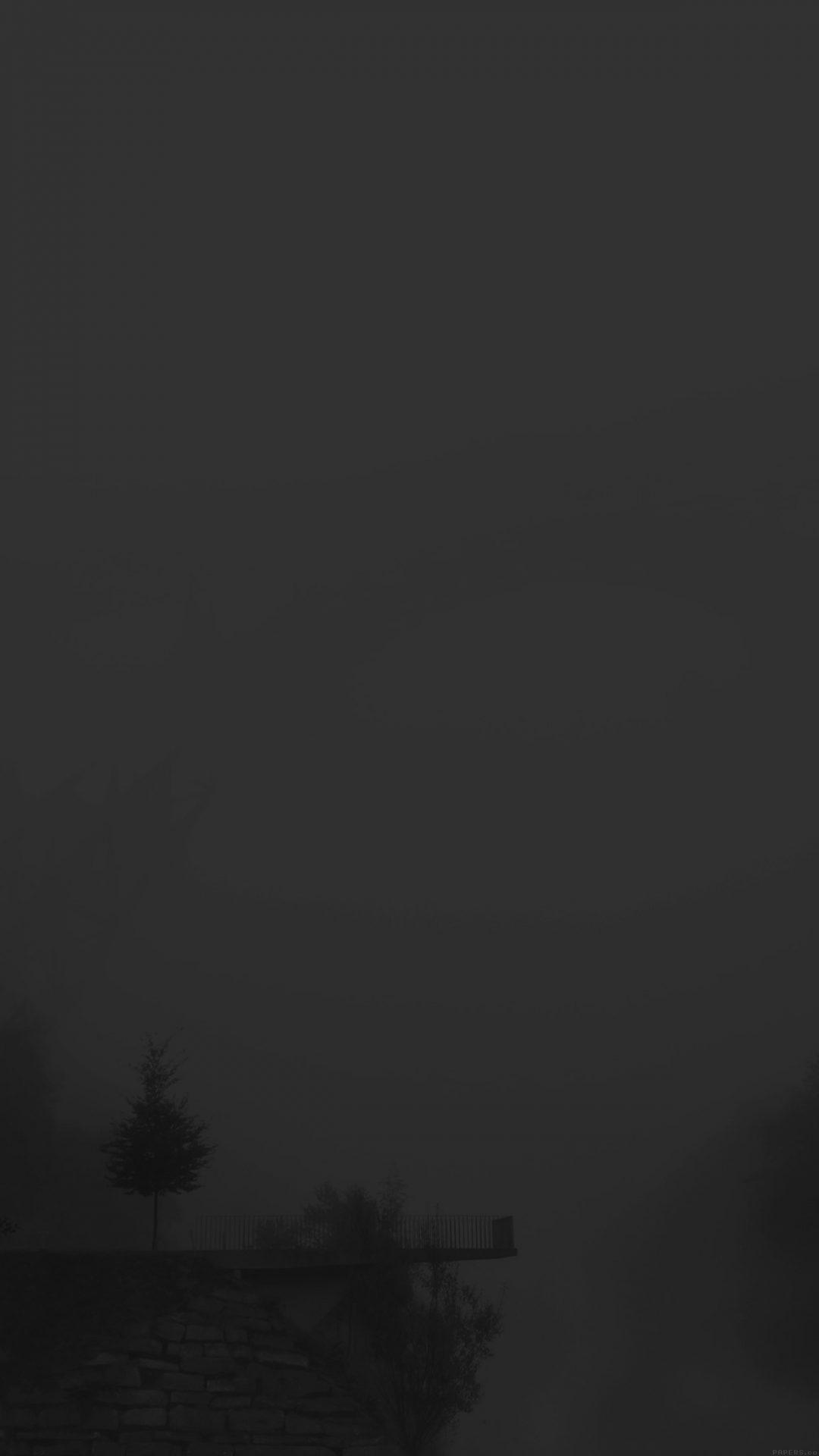 Foggy Bridge Dark Herr Olsenmungsten Tree Nature