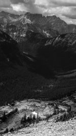 Great Mountain View Dark Bw Nature