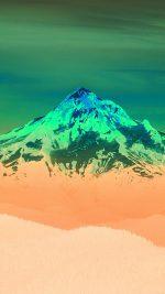 Green Sunset Snow Mountain Nature
