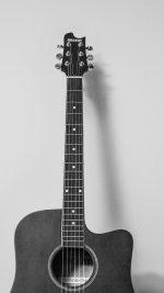 Guitar Art Bw Dark Music Son