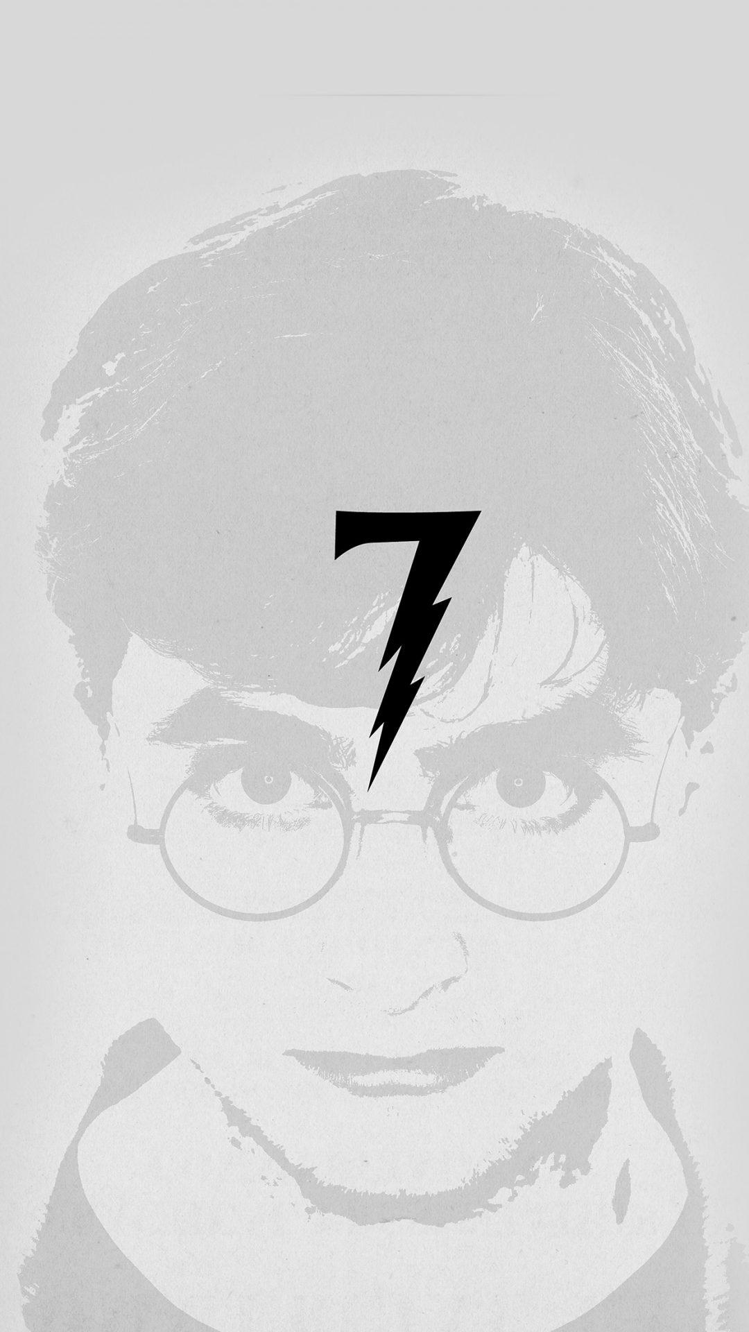 Harry Potter Art Minimal Film Gray