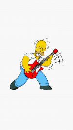 Homer Simpson Music White Illustration Art